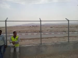 Wüste: Das Solarkraftwerk liegt in einem Industriepark vor Jericho, bisher haben sich hier aber kaum Unternehmen angesiedelt
