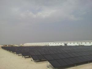 Palästinas erstes Solarkraftwerk. Die Ausmaße sind noch bescheiden