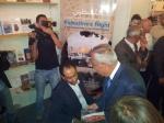 Hoher Besuch: Ministerpräsident Salam Fayyad macht bei der Eröffnung einen Rundgang